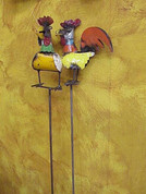 Tuscan Rooster Garden Stake