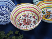 Gallo Rooster Bowl, Gallo Rooster Serving Bowl, Deruta Orvieto Bowl