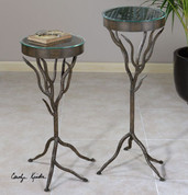 Tree Branch Table Stand