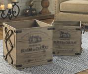 Vineyard Wooden Storage Crates