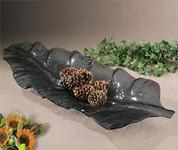 Smoked Glass Leaf Tray