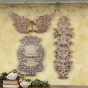 Architectural Plaster Fragments, Rustic Artifacts