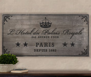 Paris Hotel Wall Plaque