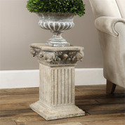 Corinthian Pedestal, Corinthian Side Table
