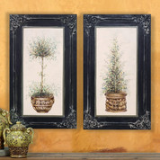 Tuscan Wall Art, Olive Tree Topiaries