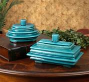 Tuscan Boxes, Blue Ceramic Boxes