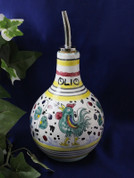 Deruta Orvieto Olive Oil Bottle, Deruta Gallo Rooster Olive Oil Bottle