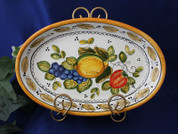 Deruta Italian Fruit Serving Platter, Deruta Serving Dish