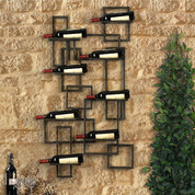 Tuscan Wine Rack Wall Decor