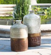 Terracotta Vases, Tuscan Vase, Tuscan Rustic Vase, Tuscan Bottles