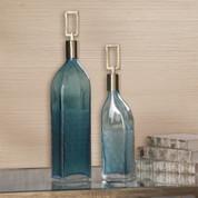 Tuscan Bottles, Tuscan Vase, Decorative Glass Bottles