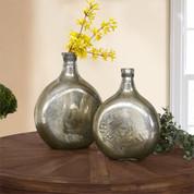 Mercury Glass Bottles, Mercury Glass Vase