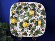 Tuscan Lemons Serving Platter, Tuscan Lemon Platter, Tuscan Lemons Plate