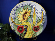 Tuscan Sunflower Serving Platter, Tuscan Sunflower Plate, Tuscan Sunflowers