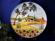 Tuscany Serving Platter, Tuscany Platter, Tuscan Landscape Serving Platter, Tuscany Plate