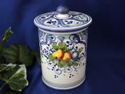 Tuscan Fruit Biscotti Jar, Tuscan Fruit Canister, Tuscany Biscotti Jar