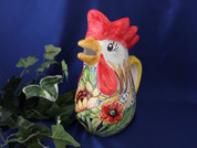 Italian Rooster Pitcher, Tuscan Sunflower Rooster Pitcher, Tuscany Rooster Pitcher