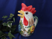 Italian Rooster Pitcher, Tuscany Bees Rooster Pitcher, Bumble Bee Rooster Pitcher, Tuscany Rooster Pitcher