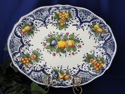 Tuscan Lemons Fruit Serving Platter, Tuscan Lemon Fruit Platter, Tuscan Lemons Fruit Plate