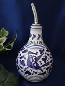 Deruta Arabesco Olive Oil Bottle, Deruta Olive Oil Bottle