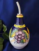 Deruta Olive Oil Bottle, Deruta Grapes Lemon Olive Oil Bottle, Deruta Tuscan Sunflower Olive Oil Bottle