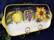 Deruta Grapes Lemons Serving Platter, Deruta Tuscan Sunflowers Serving Platter