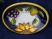 Deruta Grapes Lemons Dish, Deruta Tuscan Sunflowers Dish