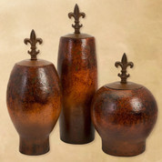 Fleur De Lis Vase, Tuscan Jars, Tuscan Vases, Old World Containers