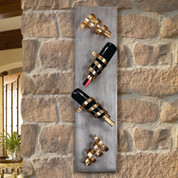 Corkscrews Wall Wine Rack, Tuscan Wine Rack Wall Decor