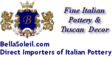 BellaSoleil.com Direct Importers of Italian Pottery