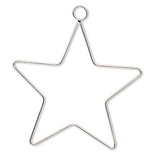 2 Star Steel Ornament 4 Inch Wire Frame Forms *