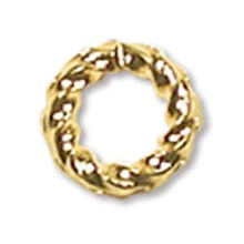 144 Fancy Twisted Gold Plated Brass 6mm Jump Rings~16 Gauge