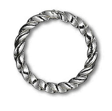 100 Gunmetal Plated Brass 10mm Fancy Twisted 16 Gauge Jump Rings