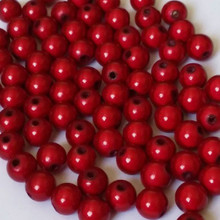 1 Strand Red Acrylic 6mm Japanese MIRACLE Beads  *