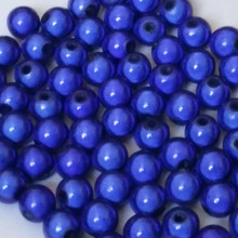 1 Strand Royal Blue Acrylic 6mm Japanese MIRACLE Beads  *