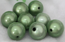 1 Strand Green Acrylic 8mm Japanese Round MIRACLE Beads *