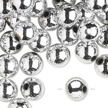 200 Grams Acrylic Metallic Silver 10mm Round Beads
