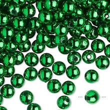 100 Grams Acrylic Metallic Green 6mm Round Beads