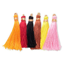"12 Imitation Silk Bright Multi Color Tassel Mix  ~ 2"" Long with French Wire"
