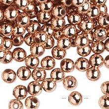 100 Grams Acrylic Metallic Copper 6mm Round Beads