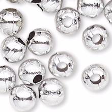 4,500 Acrylic Metallic Silver 3mm Round Beads