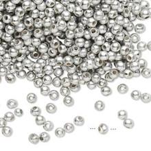 4,500 Acrylic MATTE Metallic Silver 3mm Round Beads *