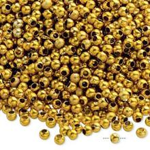 4,500 Acrylic Metallic Gold 3mm Round Beads