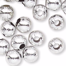 100 Grams Acrylic Metallic Silver 4mm Round Beads