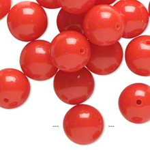 1/4lb Opaque Red Resin 19-21mm Round Beads *