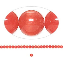 1 Strand Orange Cat's Eye Fiber Optic Small 2mm Glass Grade A Beads *