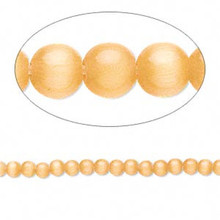 1 Strand Light Orange Cat's Eye Fiber Optic Small 2-3mm Glass Grade A Beads *