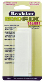 1 Package of 24 BeadFix Super Fast Adhesive Squares *
