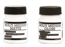 1.1 Oz Jar Ranger Multi Medium Gel Jar ~ Gloss OR Matte Finish ~ Built in Brush