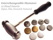 1 Bead Smith Texture Hammer with 12 Interchangeable Heads for Jewelry Designs